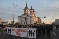 Adunare publică și Marș pentru viață la Oradea
