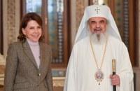 Ambasadoarea Franţei în România în vizită la Patriarhia Română
