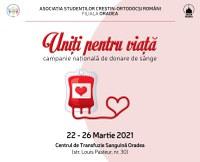 """Campania națională de donare de sânge """"Uniți pentru viață"""" se desfășoară și la Oradea"""