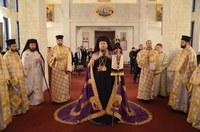Cea dintâi Sfântă Liturghie în noua biserică a Mănăstirii Izbuc