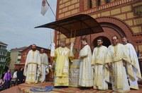 Chiriarhul Oradiei la biserica Sfântul Apostol Andrei din Oradea în Duminica Tuturor Sfinților