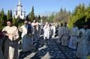 Chiriarhul Oradiei la Mănăstirea Sfânta Cruce din Oradea  în Duminica a treia din Postul Mare