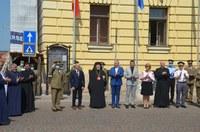 Drapelul Naţional al României sfințit și arborat la Oradea