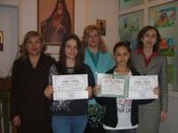"""Elevele Liceului Ortodox """"Episcop Roman Ciorogariu"""" din Oradea premiate"""