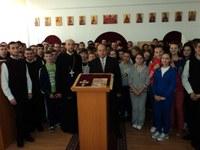 """Hram la Liceul Ortodox """"Episcop Roman Ciorogariu"""" din Oradea"""
