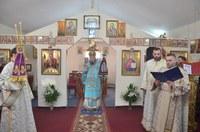 Liturghie arhierească de hram în Parohia Palota