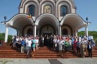 """Liturghie arhierească în biserica  """"Sfântul Mare Mucenic Dimitrie, Izvorâtorul de Mir"""" din Oradea"""