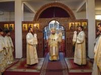 Liturghie arhierească în paraclisul de iarnă de la noua Catedrală Episcopală din Oradea