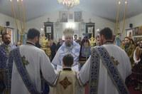 Liturghie arhierească la hramul bisericii din Palota, Eparhia Oradiei
