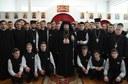"""Liturghie arhierească la Liceul Ortodox """"Episcop Roman Ciorogariu"""" din Oradea"""