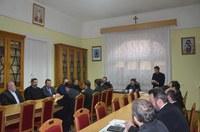 Membrii Consiliului Eparhial al Episcopiei Oradiei reuniți în ședință