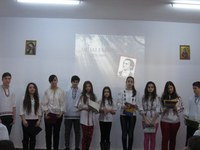 """Omagierea poetului Mihai Eminescu la Liceul Ortodox """"Episcop Roman Ciorogariu"""" din Oradea"""