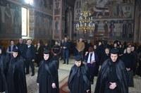 Pavecernița Mare și partea a treia din Canonul cel Mare  la Mănăstirea Sfânta Cruce din Oradea