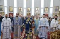 Prima Liturghie arhierească în noua biserică din Palota