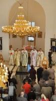 Prima Liturghie în noua biserică a parohiei Paleu