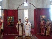 PS Sofronie la noua Catedrală Episcopală din Oradea de Înălţarea Sfintei Cruci