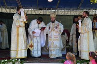 Sfinţirea bisericii din filia Sălişte de Pomezeu a parohiei Săucani