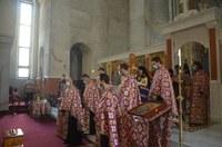 Slujba Deniei celor 12 Evanghelii la Catedrala Episcopală Învierea Domnului din Oradea